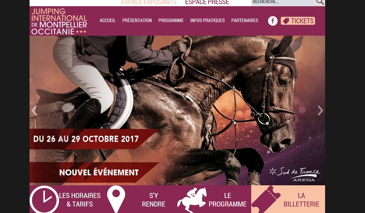 Jumping International de Montpellier 26/29 octobre 2017